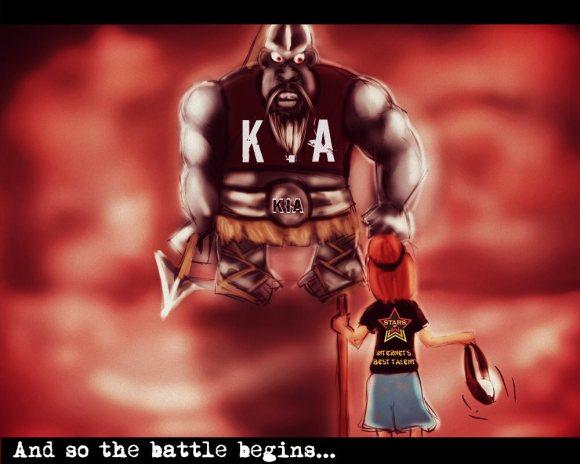 David vs Goliath battle
